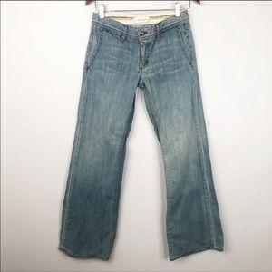 Habitual Faded Light Wash Wide Leg Jeans